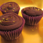 Chocolate cupcakes with sweet potato and ginger|Cupcakes de chocolate con batata y jengibre