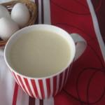 Homemade eggnog + ice cream!|Ponche de huevo + helado!