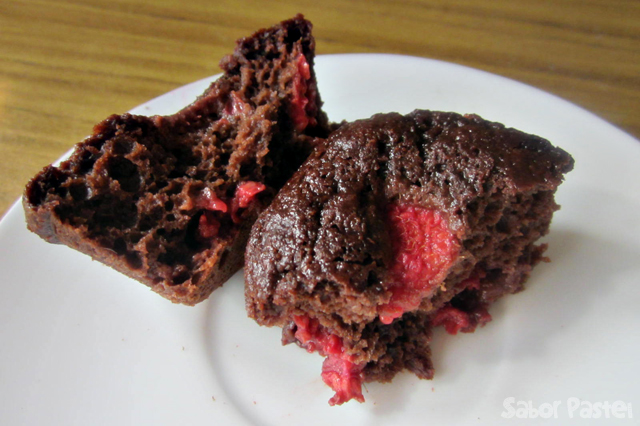 Skinny Chocolate Raspberry Muffins
