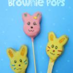 Bunny Brownie Pops|Brownie pops de conejitos