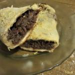 Shredded Beef Stromboli|Stromboli de carne desmechada