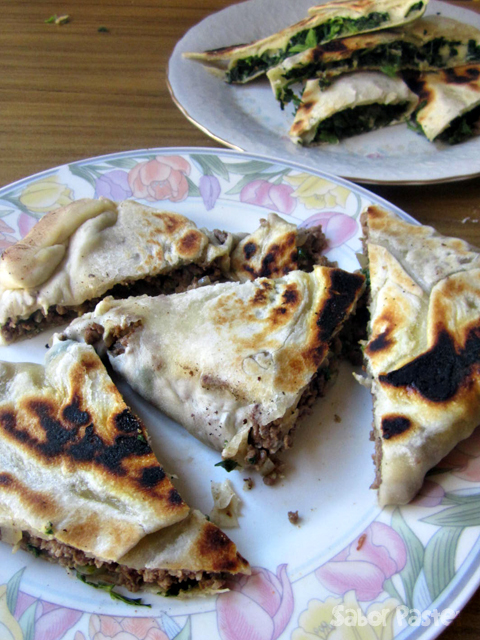 Spinach & Cheese + Beef Sourdough Gozleme