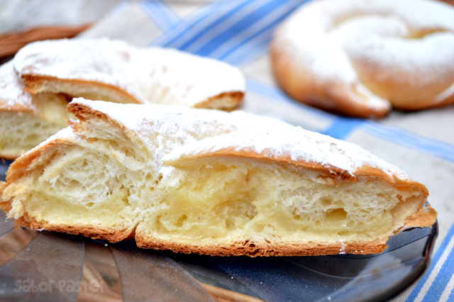 Pastry Cream and Dulce de Leche Ensaimadas